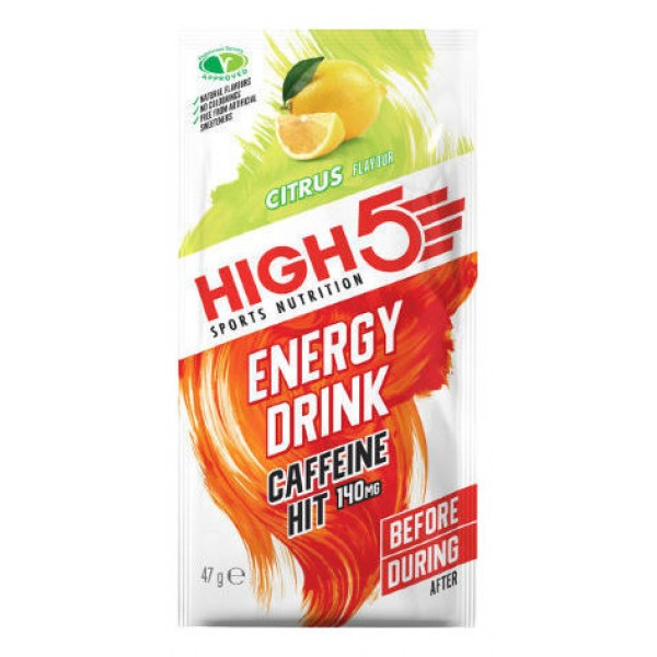 HIGH5 ENERGY DRINK CAFFEINE HIT 140MG CITRUS DZĒRIENA PULVERIS